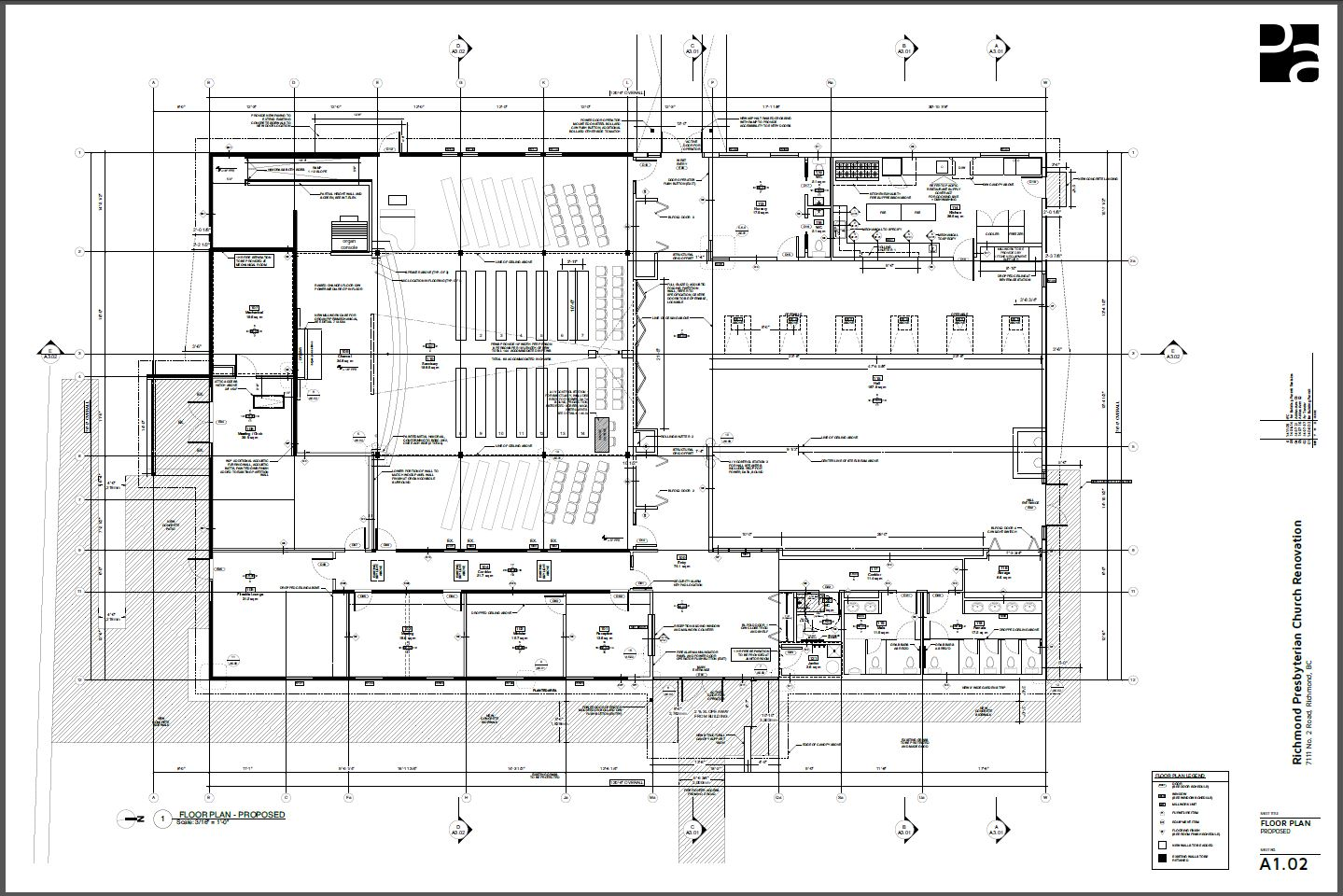 Rpc architectural floor plan richmond presbyterian church Architectural floor plans